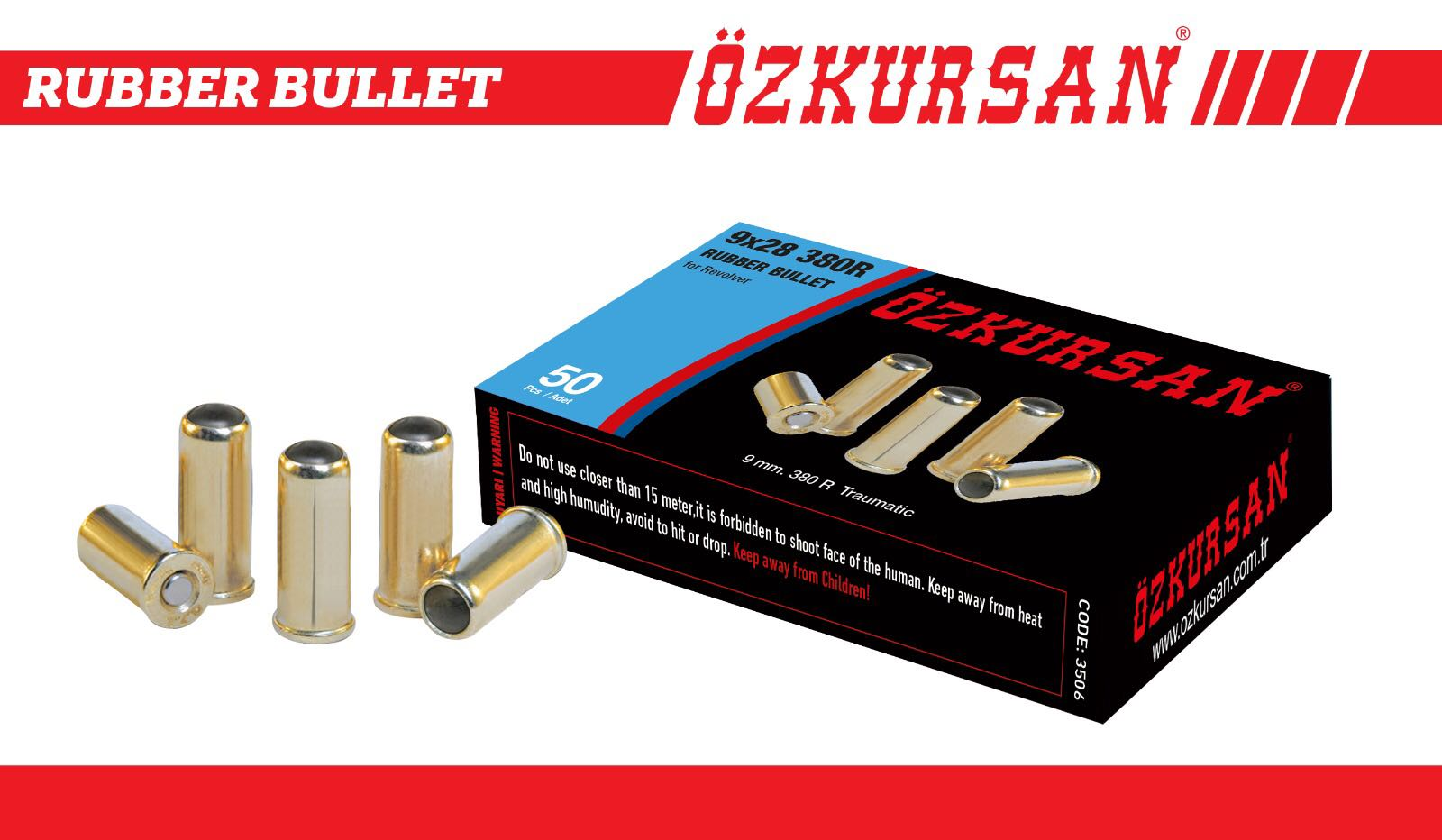 Traumatik tabanca mermisi veya Travmatik tabanca mermisi, Rubber Bullet, Traumatik Pistol